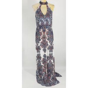 Abbeline Halter Neck Maxi Dress - Size Large